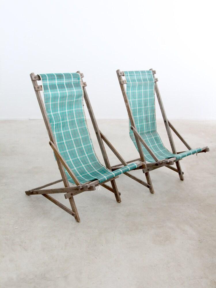 Vintage Deck Chairs Rocking Beach Chairs