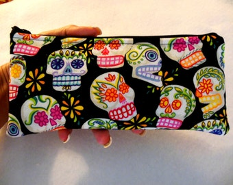 Skulls Pencil Case-Long zipper-Mini Calaveras
