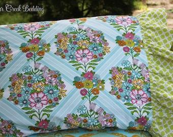 Standard Pillow Case Carousel Bedding..Girls Designer Bedding