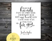 Mumford & Sons Personalized Art Print - Quote Art - I will wait - Mumford and Sons Song Lyrics - 8x10