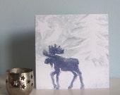 Mystic Moose Christmas Card