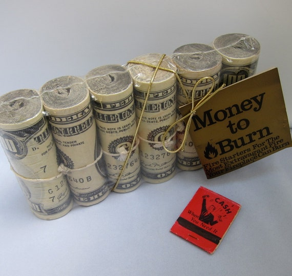 Vintage Fire Starters Fireplace Money To Burn By