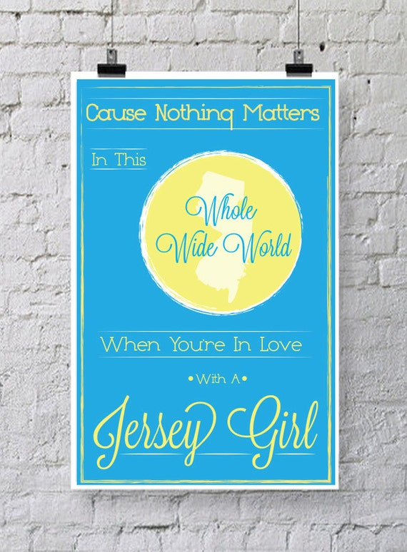 New Jersey Girl Poster