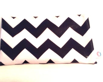 Navy Chevron Snackaby dishwasher-safe reusable washable snack bag