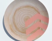 "Modern Wood Simple Chevron 10"" Melamine Plate, Coral"
