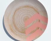 "Modern Wood Simple Chevron 10"" Melamine Plate, Coral"
