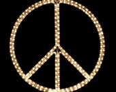 Peace Sign/Symbol Holiday Lighting Display, Wall Decor, Indoor/Outdoor Decoration, Night Light (Incandescent)