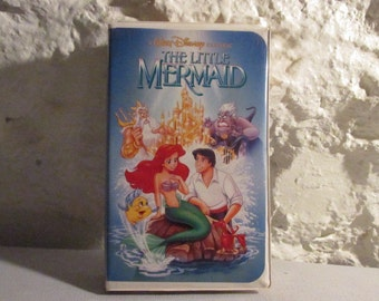 The Little Mermaid Disney VHS Tape Banned Phallic Explicit Cover Collectible Movie