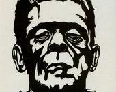 Hand Cut Frankenstein Paper Cutting Framed 8 X 10