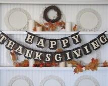 HAPPY THANKSGIVING Banner for the Thanksgiving Season