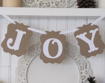 JOY  Banner for the Holiday Season