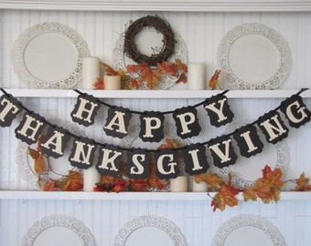 HAPPY THANKSGIVING Banner for the Thanksgiving Season