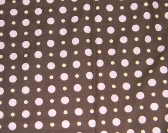 Brown with Pink and Yellow Dotted Crib/Toddler Bed Fitted Sheet