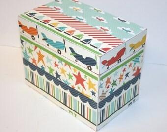 Boys Keepsake Box, 4 x 6 Recipe Box, Custom Box, You Design It, Personalized Handmade Wooden Recipe Card Box, Address File Box, Treasure Box