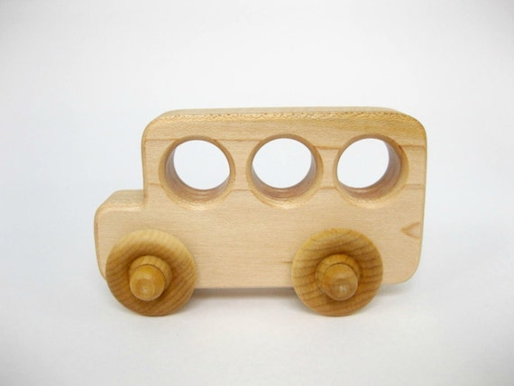 Wood Toy School Bus, little wooden toy