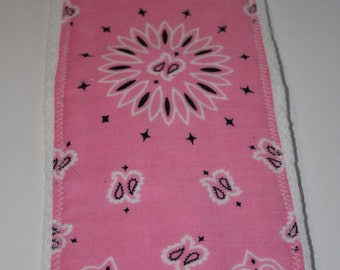 Burp Cloth/Burp Rag Baby Cotton Diaper Pink Bandana (1)