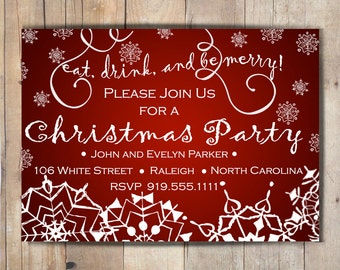 Digital Christmas Party Invitation
