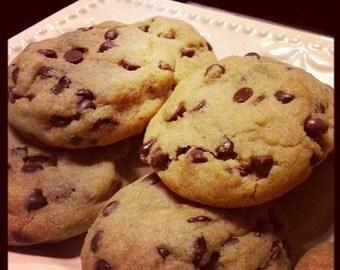 Vegan Chocolate Chip Cookies - 1 dozen, vegan cookies