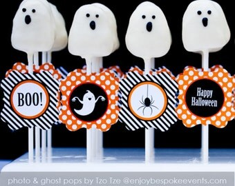 Printable Halloween Cupcake Circles available instantly