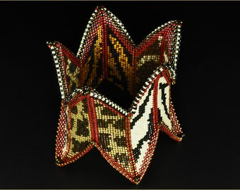 "The ""Safari Cuff"" Beading Kit (inspired www.ContemporaryGeometricBeadwork.com)"