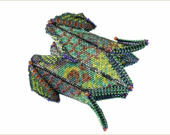 "The ""Parrot Fish Cuff"" Beading Kit (inspired www.ContemporaryGeometricBeadwork.com)"