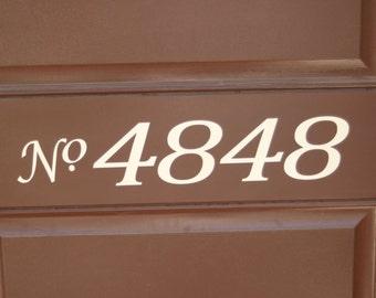 Front Door HOUSE Numbers vinyl lettering decal sign