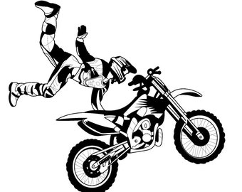 Stunt Biker Flying // FLONZ Clear stamp clingy acrylic