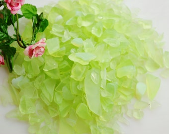 Lime Green Sea Glass - Beach - Glass - Crafting - Beach Decor - Other Colors available  (6 oz bag)