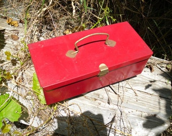 Vintage Metal Tool Box - Industrial Chic - Salvage Planter