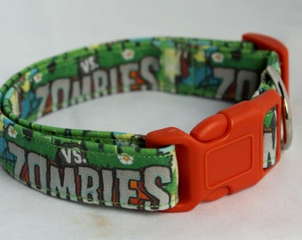 Zombie Dog Collar Comic Size XS, S, M or L