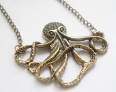 MOVING SALE Vintage Style Octopus Necklace