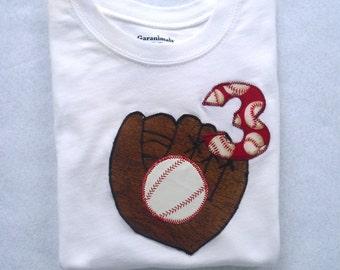 Baseball Birthday Shirt / Toddler  / /Baby Boys / With Name
