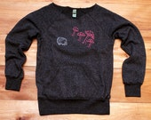 hunting for mushrooms Hedgehog Sweater, Mushroom Sweater, Off Shoulder Top, S,M,L,XL