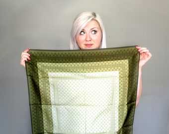 Happy little trees- green- moss- Scarf- triangle-arrow-  tribal