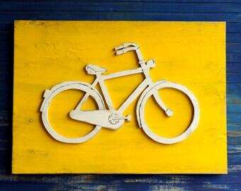 Bicycle Art Wooden Bike Sign Large Bicycle Wall Art Bike Wall Decor