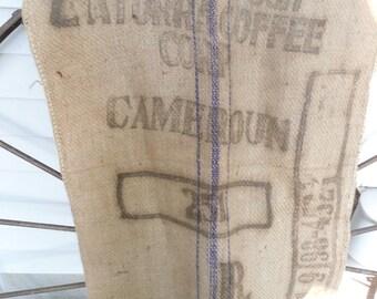 Gunny Sack Vintage Coffee Burlap Bag Farm Gunny Sack Feed Sack