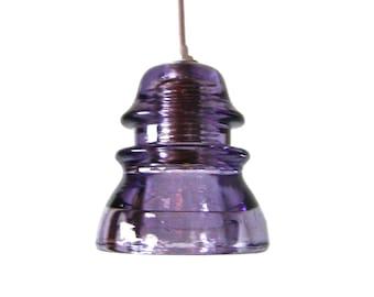 Custom Purple Insulator Light Industrial Pendant Light Pendant Lighting Purple Glass Pendant Light Plug in Pendant Light Fixture purple lamp