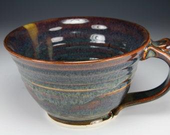 Chowder Mug Chili Mug in Brown Glaze