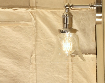 Sconce Lighting with Exposed Socket Design with Clear Glass Shade