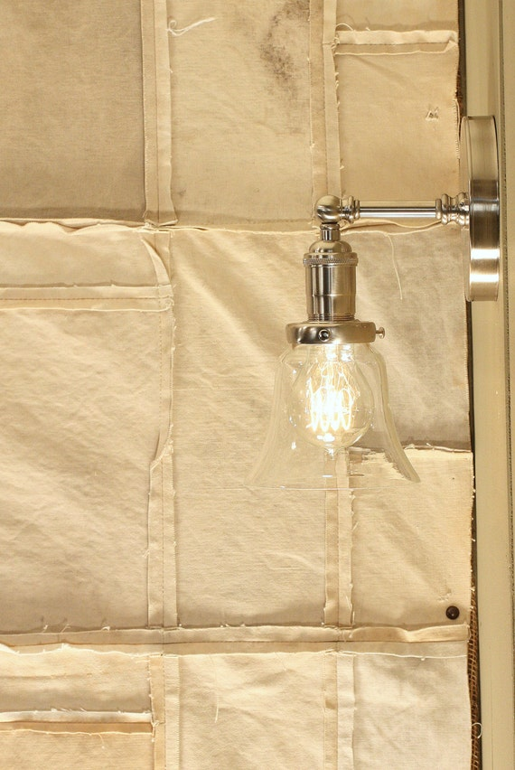 Sconce Lighting With Exposed Socket Design With Clear Glass