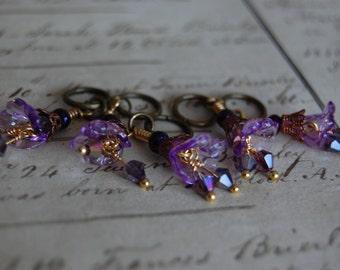 Purple Art Nouveau Steampunk Stitch Markers
