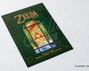 Zelda 5x7 Invitation - Party Printable - PERSONALIZED