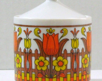 Cute Tulip Pattern Bowl with Top