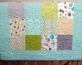 """Sale Riley Blake Life in the Jungle Baby or Toddler Boy Quilt ---39"""" x 46"""""""