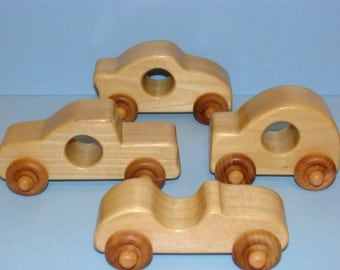 Wooden BABY Toy Cars ( Set of 4 )