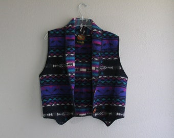aztec wool vest- medium native HIPSTER indian