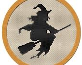 Halloween Witch cross stitch pattern PDF file