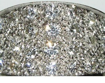 2.50CT Diamonds Pave Cluster Flat Band Ring 14KT