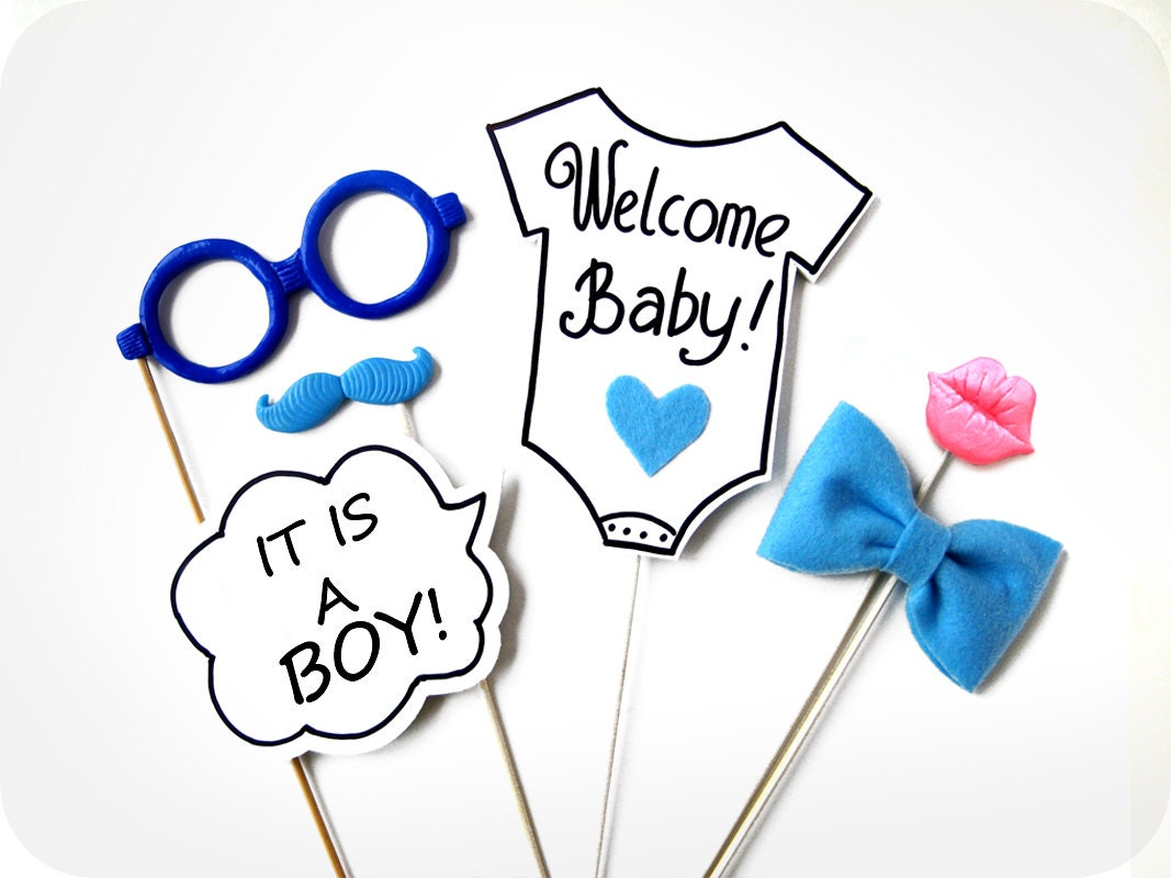 it 39 s a boy photo booth props 6 piece photo prop baby