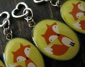 Yellow fox stitch marker set